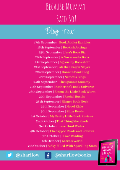 Because Mummy Said So blog tour poster (1)